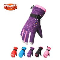 Wholesale Waterproof Ski Gloves Women or Girls Winter Skiing Gloves Snowboard Snowmobile Motorcycle Cycling Colors