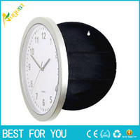 Wholesale Storage box Novelty Wall Clock Diversion Safe Secret Stash Money Cash Jewelry Security Lock case pill box new