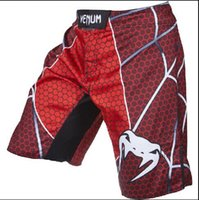Wholesale Quality goods MMA M1 Spider red fight short Muay Thai Boxing Jujitsu shorts