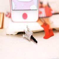best dust caps - Best Price mm Crystal Crown Anti Dust Earphone Jack Plug Dust Proof Cap for Samsung iPhone S
