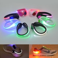Wholesale 2016 New Arrival Luminous Party Decoration LED Shoes Clip Light Bike Cycling Caution Light Night Running Safety