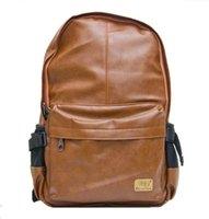 Acheter Hommes bruns sacs à dos-Hommes Femmes PU Cuir Vintage Sac à Dos Mode Loisirs Homme École Sport Noir Jour Brown Sac à dos