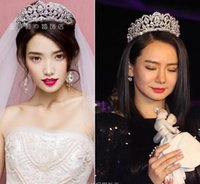 Wholesale European Vintage Tiaras Silver Bridal Jewelry Quinceanera Rhinestone Crystal Crowns Pageant Wedding Hair Accessories For Brides