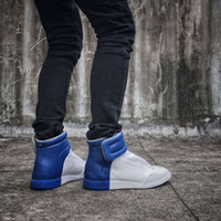 Wholesale Buy Genuine Leather Maison Martin Margiela MMM Brand Casual Flat High top Sneakers Express Ship
