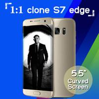 Wholesale Premium Goophone Clone S7 s7 edge MTK6580 bit Quad core MTK6750 Octa core Smartphone quot G GB RAM GB ROM MP Phone