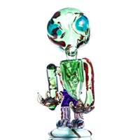 alien yellow - Glass Alien Hand Smoking pipe oil rig pipes for dry herb Gary Blue Yellow Green available