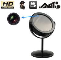 Wholesale Real Mirror With Spy Camera Home Security Hidden Camera Mirror Mini DV Camcorder CCTV Security Camera Black Silver