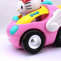 Wholesale Brand New RC Car Children s Cartoon Kitty Remote Control Car Eelectric Toy with Lighting And Music Random Color
