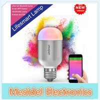 Wholesale Lifesmart High Quality Smart Bluetooth Lamp E27 Wireless Remote Control Million Colors Dimming Smart LED Bulb For Smart Home