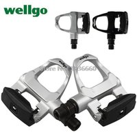 bicycle pedals wellgo - Wellgo Clipless pedals cycling Road Self locking Bike XC Racing Pedal Bicycle cycle pedales bicicleta top ultralight