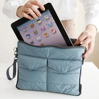 apple computer storage - 2015 New Arrival Hot selling Pad tablet Organizer Bags for storage bag in bag unisex computer clutch tote bag