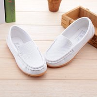baby girl loafers - 2016 New Boys Girls Leather Shoes Baby Moccasins kids Shoes Loafers Sneakers Fashion Children Shoes For soft bottom Boys X189