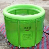Wholesale Size cm cm With Pump Ultralarge Thickening Bath Bucket Bathtub Adult Folding Inflatable Bathtub Double
