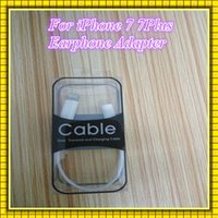 Wholesale Phone Earphone Adapter For iphone7 Plus Headphone Converter iphone earphone Adapter Cable mm Headset Connector Cord