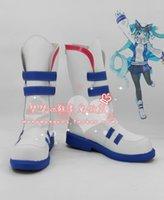 achat en gros de hatsune miku chaussures-Vente en gros-2016 Hatsune Miku Hatsune yuki miku Cosplay Chaussures Bottes chaussures bottes # MM1617 anime animations dessin animé bande dessinée Halloween Noël
