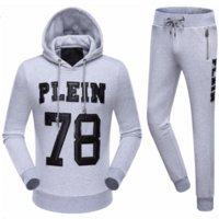 belts rock bands - Skulls Hoodies Rock Band Men Sweatshirt Male Tracksuit Jacket Casual Sports Suit Boy Hooded Jackets Moletom Philipp Plein Sportswear Set