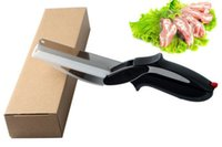 Wholesale New Hot in Kitchen Smart Scissors Knife Set With Mini Cutting Board Clever Cutter Option Blister package
