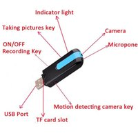 Wholesale 10PCS Mini USB Disk Camera DVR Motion Detect Camera Cam Security Mini DV DVR