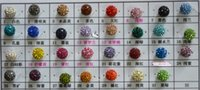 Wholesale mm Mixed Color Micro Pave CZ Disco Ball Crystal Shamballa Bead Bracelet Necklace Beads DIY jewelry