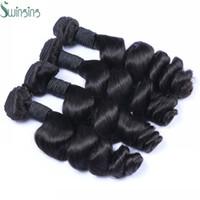 Compra Teñidos haces de pelo de malasia-El pelo humano peruano de la onda floja venden al por mayor 3pcs mucho puede ser teñido brasileño indio Pañales del pelo del visión de Malasia