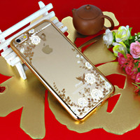 apple garde - For iPhone PLUS Secret Garde Rhinestones Soft TPU Luxury Plating Cases Bling Plated TPU Cover Case Back Covers