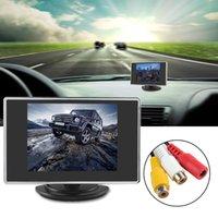 3,5 pouces 320 x 234 Moniteur de vue arrière de voiture à écran tactile TFT-LCD couleur poche avec entrée vidéo 2 canaux CMO_355