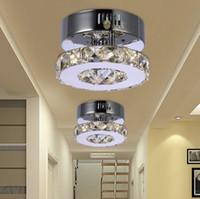 balcony grill - Indoor lighting GENESIS LIGHTING LED crystal corridor balcony small decorate ceiling light grill light