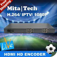 Wholesale 4 Ch H SDI Video Encoder IPTV Live Stream Broadcast RTMP HTTP RTSP H U Structure SDI video encoder