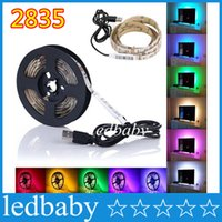 background cool - 5V USB Cable LED Strip Light Lamp SMD3528 cm cm cm Christmas Flexible Led Strip Light with Mini Controller TV Background Lighting