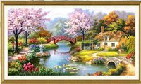 Wholesale sitting room bedroom diamond Diamond embroidery painting d dream home cottage DIY drill noiron diamond European painting