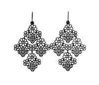 Wholesale Chantilly Lace Chandelier Style Filigree Fish Hook Dot Earwire Earrings