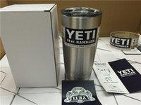 steel water bottles - 2016 hot Yeti oz Cups Cooler YETI Rambler Tumbler Travel Vehicle Beer Mug Double Wall Bilayer Vacuum Insulated Stainless Steel