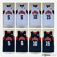 basketball team london - cheap USA Dream Team Basketball Jerseys Kobe Bryant Lebron James Vintage Uniforms London Olympics Games Stitched