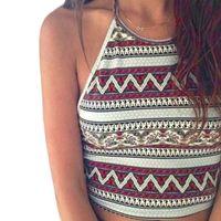 Wholesale Women Boho Crop Tank Tops Bustier Bra Vest Bralette Brand Shirts Summer Blouses Women Tops and Tees Plus Size Summer