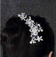 Wholesale Wedding Bridal Pearl Hair Pins Flower Crystal Hair Clips Bridesmaid Jewelry wedding bridal accessories hair jewelry