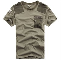 airborne shirt - New Brand Free Knight Outdoor U S Army Men s Short Sleeve T Shirt Airborne Tee Shirts Summer Cotton Tops High Quality M XXXL
