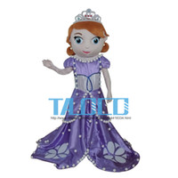Mascot Costumes Unisex Free Size Sophia Princess Mascot Costume Sofia the First Halloween Party Dress Adult