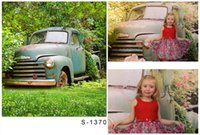 Wholesale 5x6 ft x200cm Photography Backdrops Meadow Shabby Car Classical For Children Background Photographic Studio Background