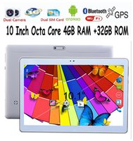 Wholesale 10 Inch Android Tablets PC GB G WIFI Bluetooth Dual camera lcd tab pc Octa Core MTK8752