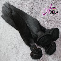 Wholesale 8A Cuticle Brazilian Hair Bundles Malaysian Indian Peruvian Hair Weave inch Silky Straight Natural Color Human Hair Extensions