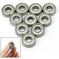 Wholesale 10 X Metal mm Deep Groove Sealed Shielded Ball Bearing Miniature Skateboard Scooter Roller Wheels VEJ19 P0