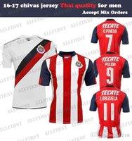 Wholesale 16 Men Chivas Jersey Guadalajara Deportivo Soccer Jerseys Thailand O PINEDA PULIDO I BRIZUELA Mexico Home AWAY Jersey Soccer