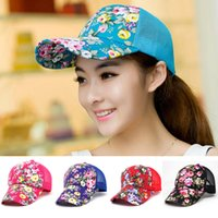 Wholesale Brand New Floral Hat Baseball Cap Golf Hats Summer Mesh Hat for Women CA03202