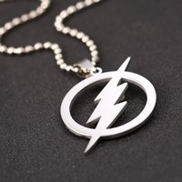 allen alloys - New The Flash Thunder L Stainless Steel Necklaces For Women Movie Pendant necklace for Men Jewelry Barry Allen Necklace