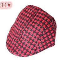 Wholesale 50pcs colors Kids Boys Girl Beret checked plaid Cap Toddler Children s Flat Cabbie Hats Cotton Sun children Caps D778