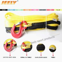 atv winch hook - mm m Strand UHMWPE Synthetic X4 ATV Braid Winch Line With Thimble and HOOK for Offroad