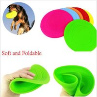 Wholesale 2016 New Colorful Pet Dog Training Fetch Toy Soft Puppy Flying Disc Frisby Frisbee New Random Color