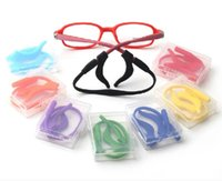 Wholesale 2015 Kids Silicone Eyeglasses Cord Head Band Strap Cord Children Glasses Safety Retainer Eyeglasses Sport Cord Chain