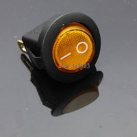 Wholesale Mini Pin Round Yellow SPDT ON OFF Rocker Switch Snap in