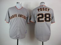best buster - San Francisco Giants Cool Base Mens Jerseys Buster Posey Gray Baseball Jersey Name Number All Stitched Best Quality